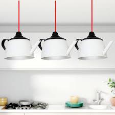 clerkenwell lighting co white black teapot 3 light bar ceiling pendant