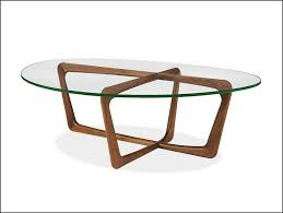 incredible brown wooden legs with oval glass top room and board coffee table designs