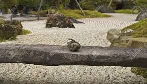 Japanese Rock Garden Detail Of A Traditional Japanese Rock Garden This Stone Braced