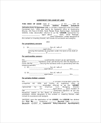 Free Rent Agreement Template Beauteous Land Lease Template 48 Free Word PDF Documents Download Free