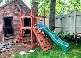 smallyardswingset rockwallconstruction