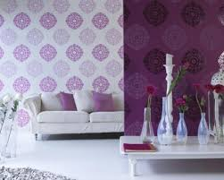 Purple Wallpaper For Bedrooms Wall Paper Designs For Bedrooms Modern Bedroom Interior Design