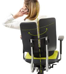 ... chairs often limit the natural mobility of backrest and spinal column.  Because of the innovative design principle of the backrest wings, the duo- back ...