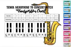 Tenor Sax Transposition Chart Bb To Concert Pitch Transposition Chart For Tenor Saxophone