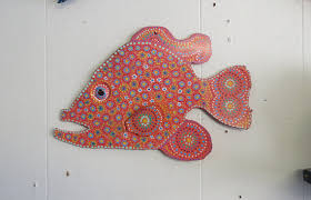 fun whimsy metal painted fish wall or outdoor art decor beach coral fish bright colorful tropical metal fish fish art tropical on whimsical metal fish wall art with fun whimsy metal painted fish wall or outdoor art decor beach coral