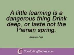 a little learning is a dangerous thing essay  a little learning is a dangerous thing essay