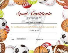 41 Best Sports Certificates Awards Images Awards Certificate