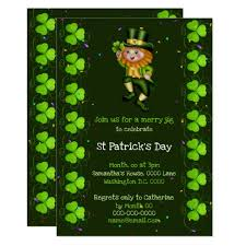 What Is Your Leprechaun Name Chart Leprechaun Jig Lucky Shamrock Irish Clover Party Invitation