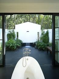 outdoor bathroom designs view in gallery amazing indoor outdoor bathroom with shower and bathtub design architects outdoor bathroom designs
