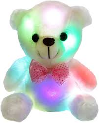 Glow In The Dark Teddy Bear Night Light Amazon Com Bstaofy Wewill Glow White Teddy Bear Stuffed