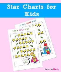 Printable Super Hero Star Chart For Kids