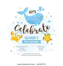 Invitation Greeting Card Template Baby Shower Stock Vector 614281775 ...