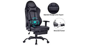 Blue <b>Whale</b> Massage Gaming <b>Chair</b> with Footrest, High Back Racing ...