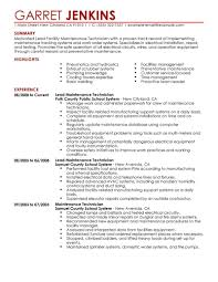 best facility lead maintenance resume example livecareer create my resume