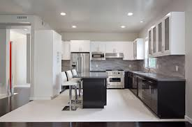 Black Cabinets On Bottom And White On Top