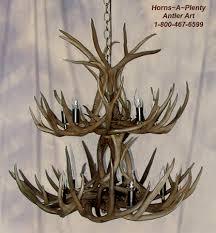 double tier antler chandelier with 10 lights by horns a plenty antler art