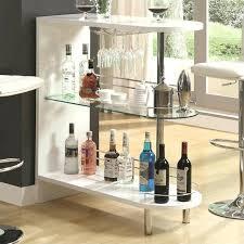 corner curved mini bar. Mini Bar Table Design Corner Curved Coaster Contemporary Home With Glass Shelf D