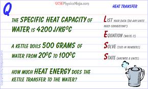 specific heat capacity calculation flashcard