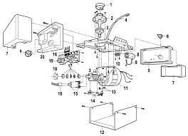 liftmaster garage door opener parts. LiftMaster 1265 Garage Door Opener Parts Breakdown And Schematic Liftmaster R