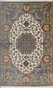 masterpiece qom green olive color by nasirian silk persian rug