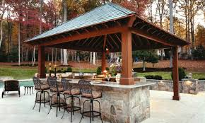 stone patio bar. Beautiful Landscape Around And Shipshape Grass For Outdoor Bar Design With Metal Barstools Closed Stone Patio