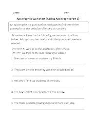 Punctuation Worksheet For Grade 5 Printable Worksheets Grammar