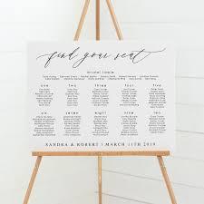 Beautiful Modern Wedding Seating Charts Professionally