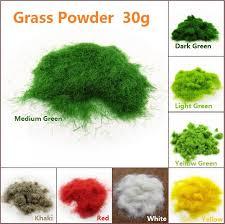 30g Artificial Grass Powder Sand Table Model Decor Micro Landscape