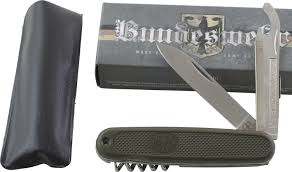 Swiss Army Knife Size Chart Details About Military Surplus Folding Pocket Knife Bundeswehr Multitool Green Od