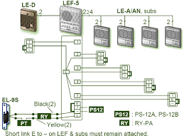 aiphone lef selective call open voice intercom business phones aiphone lef-3c at Aiphone Lef 3l Wiring Diagram