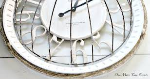 farm house clock with twine at onemoretimeevents com
