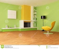Orange And Yellow Living Room Green And Orange Living Room Stock Photos Image 12093303