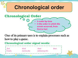 chronological order essay organization