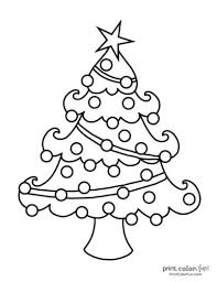 Happy christmas on colored square sheets. Top 100 Christmas Tree Coloring Pages The Ultimate Free Printable Collection Print Color Fun
