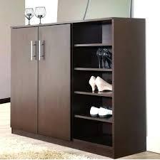 large storage cabinet with doors wood shoe rack organizer entryway shelves closet furniture white