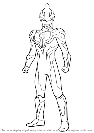 learn how to draw ultraman ginga ultraman step by step drawing tutorials