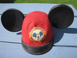 uk vintage rare 1950s early disneyland disney mickey mouse ears hat 7c857 a5101