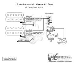 Wiring Diagrams For Split Humbuckers 1 Volume 1 Tone 2 Humbucker 1 Volume 1 T-One Wiring