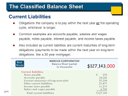 Example Classified Balance Sheet Accounting Fifth Edition Ppt Download