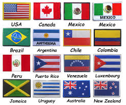 America USA Canada Mexico Colombia Argentina Australia Chile Jamaica New  Zealand Luxembourg Peru Puerto Rico Uruguay Flag Patch - buy at the price  of $1.27 in aliexpress.com