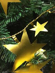 Gold Wire Christmas Tree Lights Gold Star Wire Garland Christmas Tree Decorations 9ft