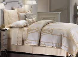 gray and gold bedding. Wonderful Gray Image Is Loading JenniferLopezCHATEAUComforterSet4pcsCHAMPAGNE And Gray Gold Bedding N
