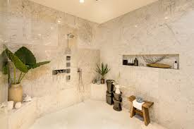 bathroom niches:  large shower walk in design with wall built in niches