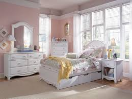 Girls Bedroom Design With White Furniture Set Home Interior Design