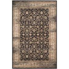 vintage black ivory 7 ft x 9 ft area rug
