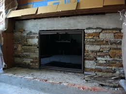 fireplace refacing kits stone natural stone veneer fireplace refacing build with stone pertaining to refacing fireplace