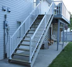 metal handrails for deck stairs. deck stair metal handrails for stairs