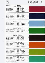 Porsche 964 Color Chart Www Bedowntowndaytona Com