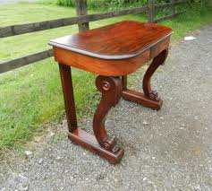 mahogany hall table. original regency console table - small proportioned period mahogany hall