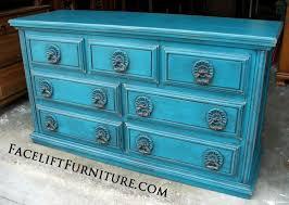 peacock blue furniture. Ornate Dresser In Distressed Peacock Blue With Black Glaze. Original Pulls. From Facelift Furniture\u0027s Furniture L